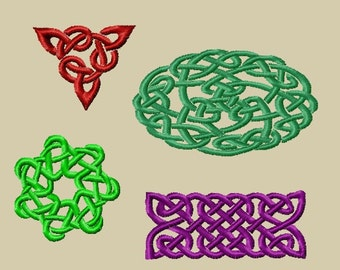 Set of 4 celtic embroidery designs for machine embroidery