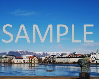 Set of 12 Reykjavik, Iceland photograph stationery note card (with envelope)