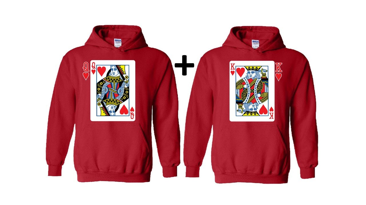 king and queen matching couple hoodies by fashionholicclothing. Black Bedroom Furniture Sets. Home Design Ideas