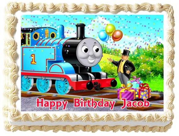 Thomas Birthday Cake Design : THOMAS & FRIENDS Birthday Edible image Cake by ...