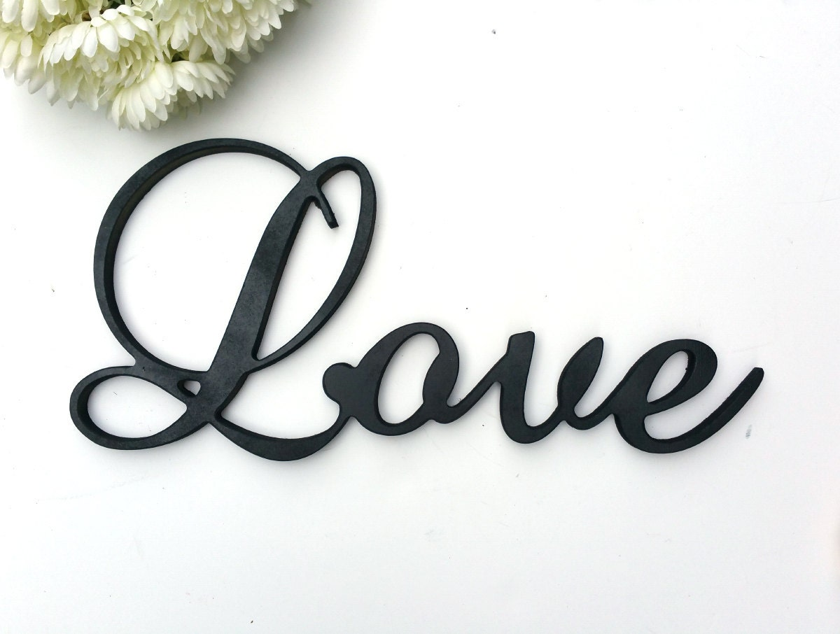 Large Cursive Love Sign 21x10 By LetteredWhimsy On Etsy