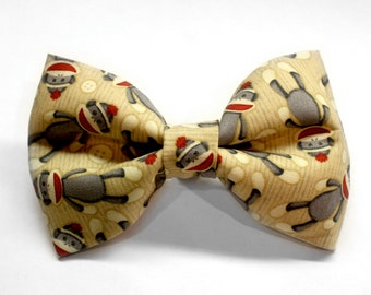 Sock Monkey Bow Tie | Dog Bow Tie | Toddler Bow Tie | Boys Bow Tie | Kids Bow Tie | Mens Bow Tie | Gift for Boys | Pet Bow Tie