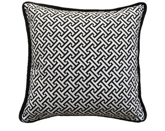 Black & White Greek Key Pillow Cover 50x50cm