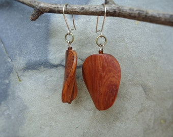 Bayong wood simple earrings