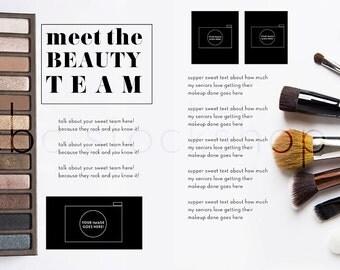 Meet the BEAUTY TEAM Magazine Layout Spread for Senior boudoir photographer