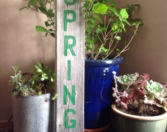 Spring Rustic Barn Board Sign