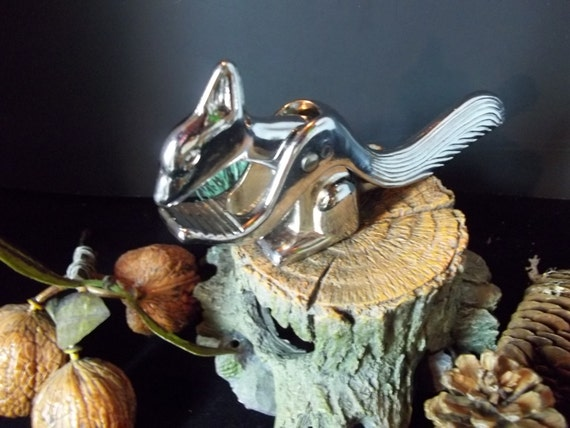 Unique squirrel nut cracker chrome metal by alwayscollectible - Squirrel nut crackers ...
