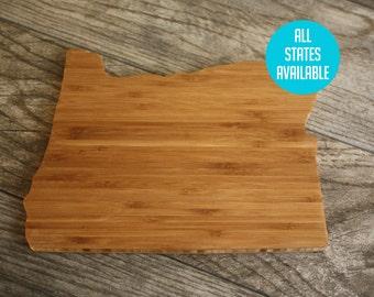 Oregon Cutting Board - Custom Engraved Oregon State Cutting Board - Perfect Wedding Gift, Engagement Gift, Housewarming Gift