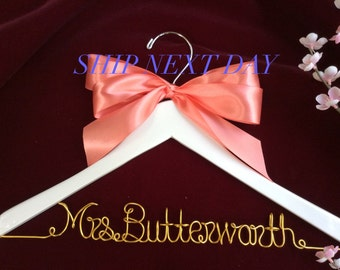 Huge Sale: Rush Order-Personalized wedding hanger, Bride hanger, wedding dress hanger