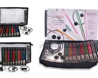 Knitter's Pride Dreamz Symfonie Deluxe Interchangeable Circular Knitting Needle Set, 200601