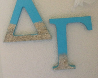 Glitter Greek Wood Letters