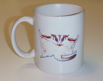 Sugar Glider Ceramic Coffee Mug
