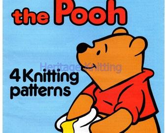 kids Winnie the pooh 4 jumper knitting pattern 99p