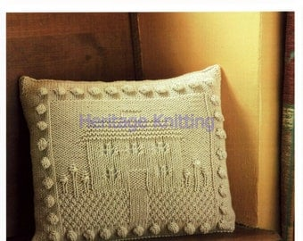 house cushion dk knitting pattern 99p