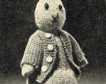 peter rabbit toy knitting pattern 99p