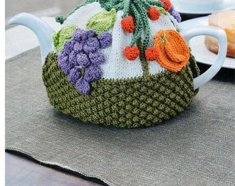 fruit tea cosy knitting pattern 99p