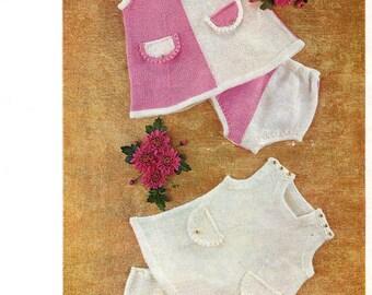 dress and knickers dk knitting pattern 99p pdf