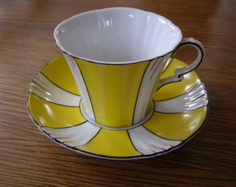 Vintage NC Japan Yellow Tea Cup & Saucer