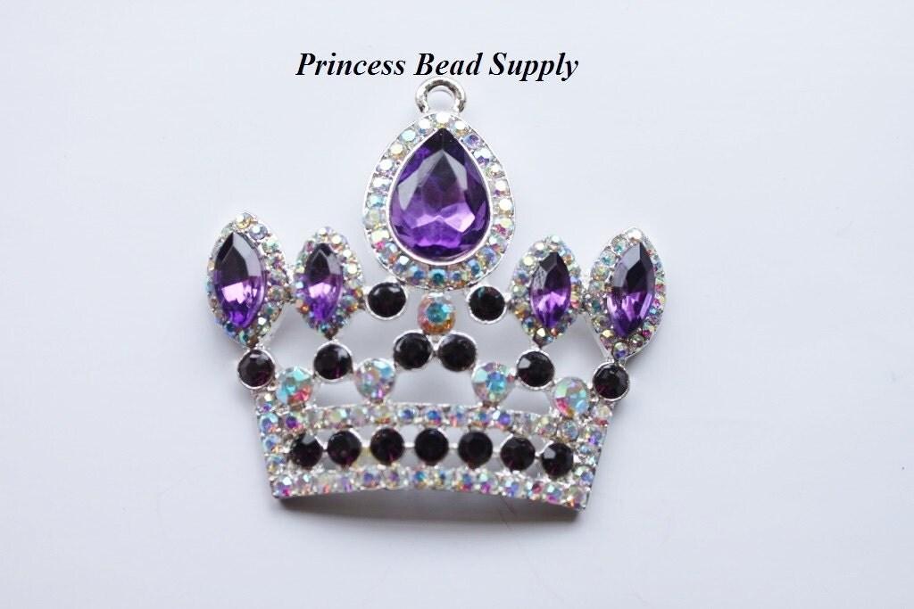 Purple Princess Crown Tiara Rhinestone by PrincessBeadSupply