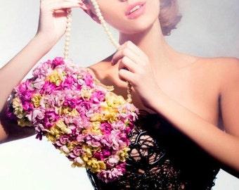 Bridal Bag - Wedding Bouquet - Bridal Bouquet - Bridal Flowers - Silk Bouquet - Wedding Flowers - Wedding Accessories - Bridal Accessories