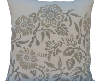 Off White  Pillow, Throw Pillow Covers, Decorative Pillow Covers, Cushion Cover, Pillowcase,Accent Pillow,Pillows,Floral Pillow,pillow cover