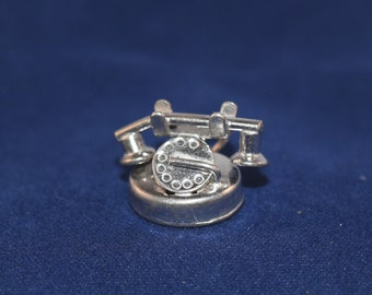 1930's rotary telephone sterling silver charm