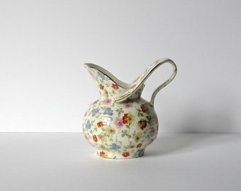 China pitcher multicolored from Czechoslovakia, 1950s