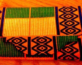 Handmade African Cloth Wallet made Kente-Like Fabric