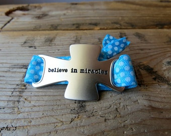 Believe in Miracles Hair Tie Bracelet