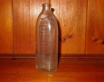 Antique Vintage Glass Baby Bottle Never Used