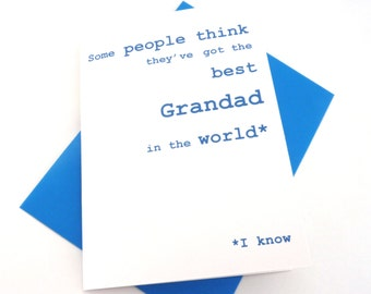 Funny Birthday Card - Happy Fathers Grandad Card, Also available as Grandpa, Grandfather - Free UK Postage, Fathers Day - Card for Men