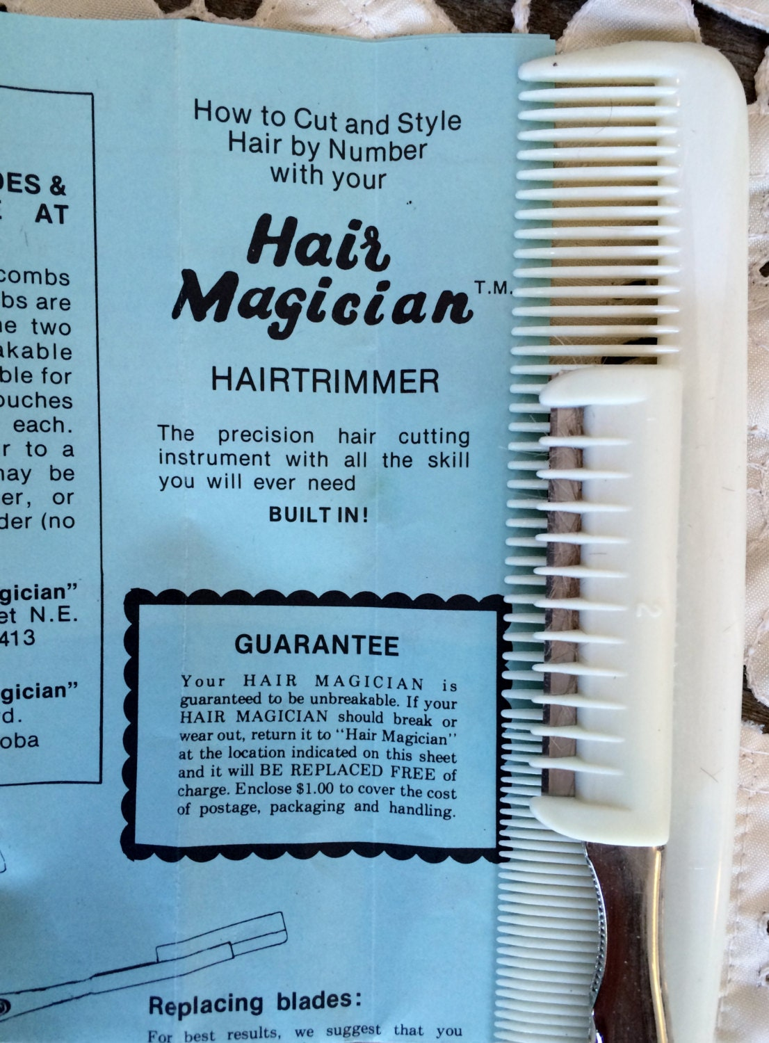 hair magician 5 cutting edges set retro hair clippers. Black Bedroom Furniture Sets. Home Design Ideas