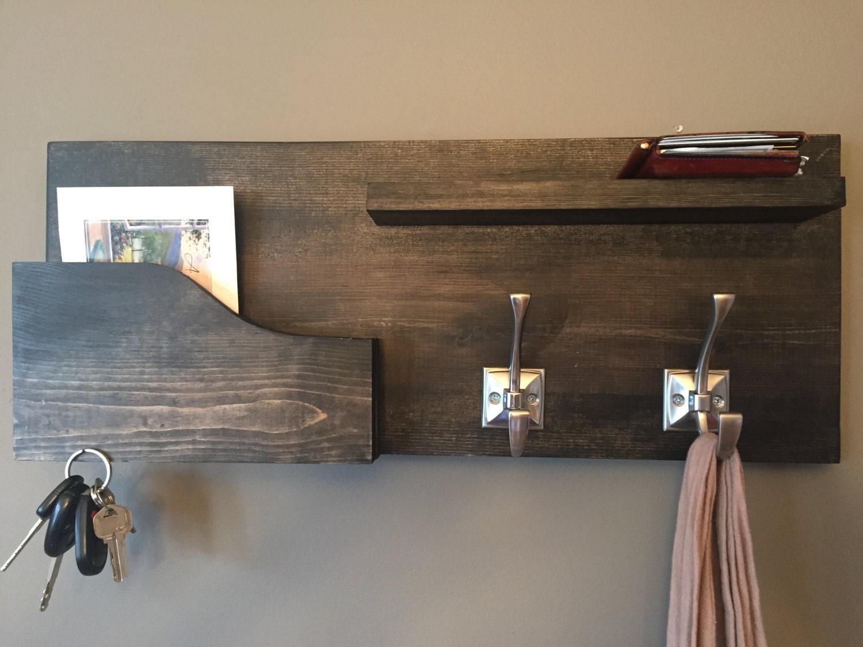 Mail Holder Key Rack Coat Rack Coat Hooks By Thetipsycarpenter