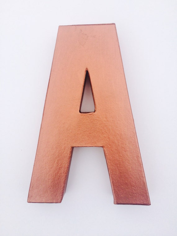 copper wall letters handpainted letters any by pollypopdecor With copper letters for wall