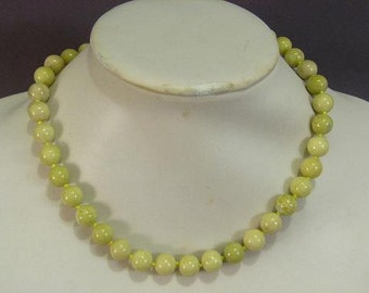 Necklace Set Butter Jade 10mm Round Beads NSJB5431