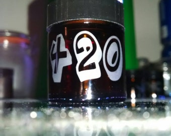 Custom etched Pocket size Stash Glass Jar with 420 Air tight