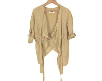 Cool Deconstructed Vintage Layering Blouse
