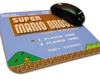 Super Mario Bros Mouse Pad, 8 Bit, NES, Nintendo