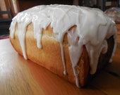 Cinnamon double swirl bread with glaze Homemade