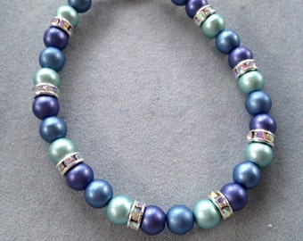 Shades of blue pearls