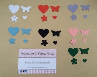 100 Butterfly Heart Flower Confetti (Weddings, Parties)