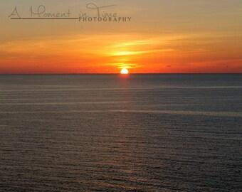 Ocean Sunset Beach Wall Art, Beach Photography Decor, Nautical Decor, Office Decor, Coastal Decor, Home Decor, Family Room Decor, ACEO Card