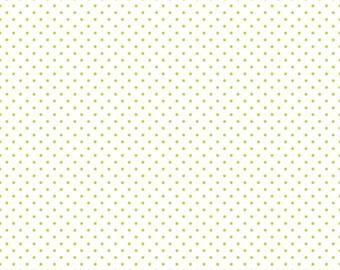 Lime Swiss Dot on White