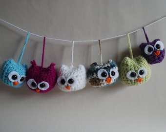 Small Crocheted Owl Ornament Amigurumi Owl Crochet Owl