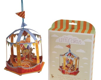 Circus craft set, kids party favour, children's circus craft kit