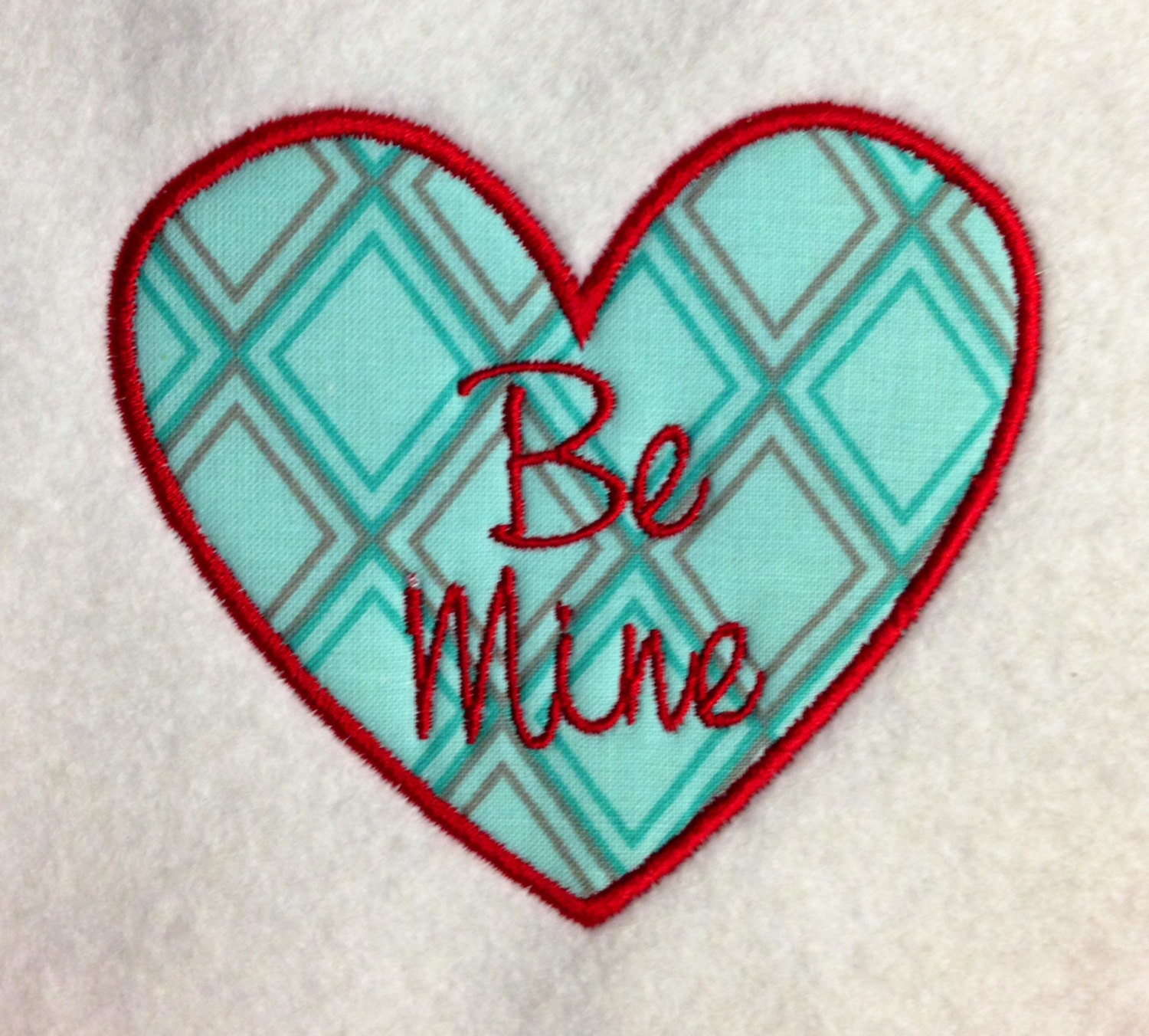 Applique valentine hearts with sayings machine embroidery