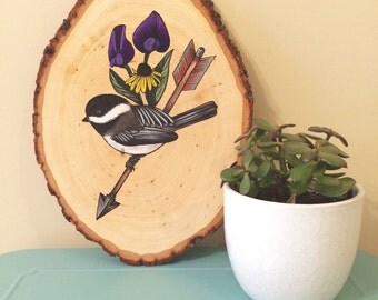 Bird and Arrow - original painting