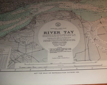 The River Tay - Scotland - East Coast - Nautical Chart
