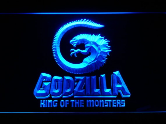 Neon Man Cave Signs Canada : Godzilla king of the monsters led neon sign home by