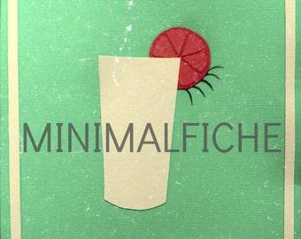 Orange mécanique of minimalist movie poster